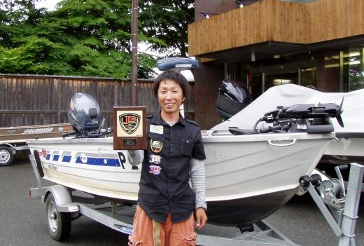 彼は今日のJB河口湖Aで見事に5位入賞!